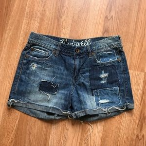 Madewell Patch  Denim Shorts  size 26